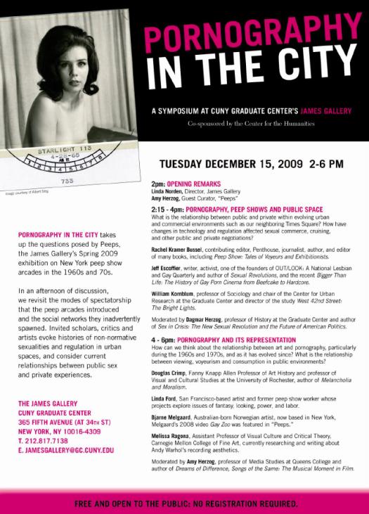 Pornography in the City Program